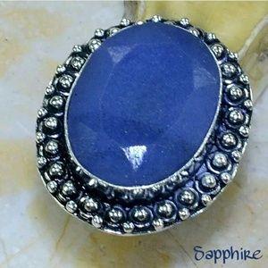 Sapphire ~ Handcrafted 925SS Ring 7